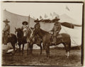Photography:Official Photos, MEXICAN PERFORMERS AT THE WILD WEST SHOW. Group of four Mexicancowboys, or vaqueros, sit on their mounts, waiting for their...(Total: 1 Item)