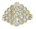 Estate Jewelry:Rings, Diamond, Gold Ring. The ring has a honeycomb motif, featuring full-cut diamonds weighing a total of approximately 2.00 car...