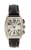 """Timepieces:Wristwatch, Franck Muller, Gent's Stainless Steel """"Conquistador"""" ChronographWatch, Modern. Case: 14 mm, stainless steel, stamped Mast..."""