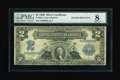 Error Notes:Large Size Inverts, Fr. 249 $2 1899 Silver Certificate PMG Very Good 8....