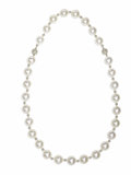 Estate Jewelry:Necklaces, South Sea Cultured Pearl, Diamond, Platinum, White Gold ConvertibleNecklace. The necklace is composed of white South Sea ... (Total: 2Pieces)