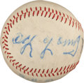 Autographs:Baseballs, 1951 Cy Young Single Signed Baseball, PSA/DNA EX-MT 6....