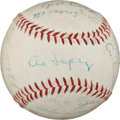 Autographs:Baseballs, 1955 American League All-Star Team Signed Baseball....