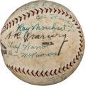 Autographs:Baseballs, 1925 Wichita Izzies Team Signed Baseball with Ray Morehart....