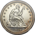 Proof Seated Quarters, 1859 25C PR65 Cameo NGC....