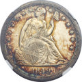 Seated Dollars, 1849 $1 MS63+ NGC. CAC....