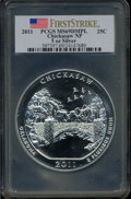 Modern Bullion Coins, 2011 25C Chickasaw Five Ounce Silver, First Strike MS69 Deep MirrorProoflike PCGS. Ex: Signature of John M. Mercanti, 12th...