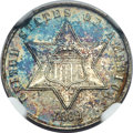Proof Three Cent Silver, 1869 3CS PR66 NGC....