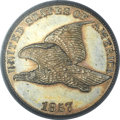 Proof Flying Eagle Cents, 1857 1C PR62 Cameo PCGS. Snow-PR3....