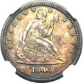 Proof Seated Quarters, 1845 25C PR64 NGC....