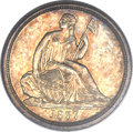 Proof Seated Dimes, 1837 10C No Stars PR64 PCGS....