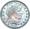 Proof Barber Quarters, 1907 25C PR65 PCGS....