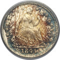 Seated Half Dimes, 1844 H10C MS67 PCGS Secure. CAC....