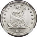 Seated Quarters, 1889 25C MS67 NGC....
