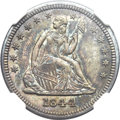 Seated Quarters, 1844 25C MS65 NGC....