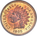 Proof Indian Cents, 1865 1C PR65 Red PCGS....