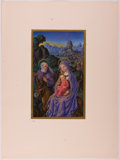 """Books:Prints & Leaves, Lot of Three Beautiful Chromolithographic Plates FeaturingReligious Scenes. 5"""" x 8"""" plates tipped-on to a 10.25"""" x 14""""shee... (Total: 3 Items)"""