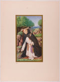 """Books:Prints & Leaves, Lot of Four Stunning Chromolithographic Plates Featuring ReligiousScenes. 5"""" x 8"""" plates tipped-on to a 10.25"""" x 14"""" sheet....(Total: 4 Items)"""
