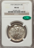 Commemorative Silver: , 1939 50C Oregon MS66 NGC. CAC. NGC Census: (302/99). PCGSPopulation (264/84). Mintage: 3,004. Numismedia Wsl. Price forpr...