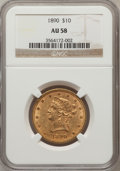 Liberty Eagles: , 1890 $10 AU58 NGC. NGC Census: (100/250). PCGS Population (55/188).Mintage: 57,900. Numismedia Wsl. Price for problem free...