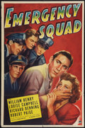 """Movie Posters:Action, Emergency Squad (Paramount, 1940). One Sheet (27"""" X 41""""). Action....."""