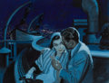 Pulp, Pulp-like, Digests, and Paperback Art, JAMES DWYER (American, 1998-1973). An Evening on the Boat, storyillustration. Gouache on board. 10.25 x 13.25 in.. Sign...