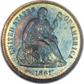 Proof Seated Half Dimes, 1861 H10C PR66 NGC. CAC....