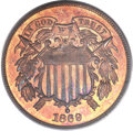 Proof Two Cent Pieces, 1869 2C PR66 Red and Brown PCGS. CAC....