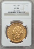 Liberty Double Eagles, 1872 $20 AU55 NGC....