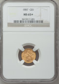 Gold Dollars, 1887 G$1 MS65+ NGC....