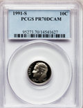 Proof Roosevelt Dimes: , 1991-S 10C PR70 Deep Cameo PCGS. PCGS Population (225). NGC Census:(251). Numismedia Wsl. Price for problem free NGC/PCGS...
