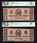 Confederate Notes:1863 Issues, T62 $1 1863 Two Examples.. ... (Total: 2 notes)