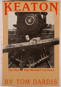 Books:Biography & Memoir, Buster Keaton [subject]. Tom Dardis. Keaton: The Man Who Wouldn't Lie Down. New York: Charles Scribner's Sons, [1979...