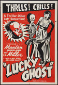 "Movie Posters:Black Films, Lucky Ghost (Toddy Pictures, R-1943). One Sheet (28"" X 41""). BlackFilms.. ..."