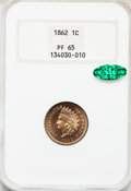 Proof Indian Cents, 1862 1C PR65 NGC. CAC....