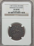 Colonials, 1787 PIECE Immunis Columbia Piece, Eagle Reverse XF40 NGC. W-5680,High R.4....