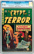 Golden Age (1938-1955):Horror, Crypt of Terror #17 Gaines File pedigree 10/10 (EC, 1950) CGC NM9.4 Off-white to white pages....