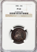 Proof Seated Quarters, 1882 25C PR64 NGC....