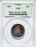 Proof Seated Quarters, 1887 25C PR65 PCGS....