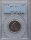 Seated Quarters, 1857-O 25C VF30 PCGS....