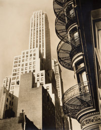 BERENICE ABBOTT (American, 1898-1991) Five Changing New York Photographs, 1935-1938 Vintage gelatin