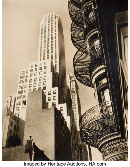 BERENICE ABBOTT (American, 1898-1991) Five Changing New York Photographs, 1935-1938 Vintage gelatin silver 10 x 8 inc... (Total: 5 Items)