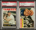 Baseball Cards:Lots, 1956 & 1964 Topps Mantle PSA-Graded Pair (2). ...