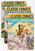Golden Age (1938-1955):Classics Illustrated, Classic Comics Group (Gilberton, 1940s) Condition: Average VG....(Total: 9 Comic Books)