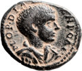 Ancients:Judaea, Ancients: Caesarea Maritima, Samaria. Diadumenian. (218 AD). AE (24.5mm, 6.31 gm, 12h). ...