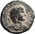 Ancients:Judaea, Ancients: Diospolis-Lod, Judaea. Elagabalus (218 - 222 AD). AE(25mm, 9.92 gm, 12h). ...