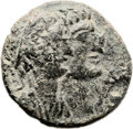 Ancients:Judaea, Ancients: Dora, Phoenicia. Mark Antony and Cleopatra VII. AE (21mm,7.10 gm, 10h). ...