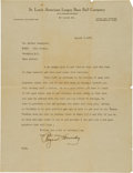 Autographs:Letters, 1933 Rogers Hornsby Signed Letter with Fantastic Baseball Content....