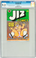 Silver Age (1956-1969):Alternative/Underground, Jiz Comics #nn (Apex Novelties, 1969) CGC NM- 9.2 White pages....