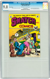 Snatch Comics #3 Second or Third Printing (Apex Novelties, 1972) CGC NM/MT 9.8 Off-white to white pages